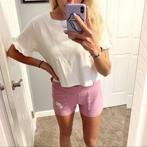 light pink nike soft shorts